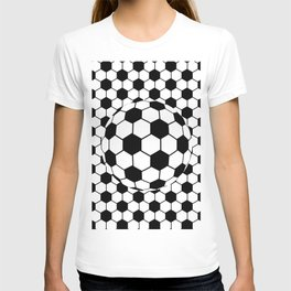 Black and White 3D Ball pattern deign T-shirt