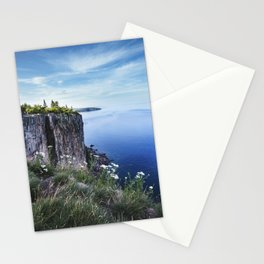 Beautiful Blue Lake Superior at Palisade Head Stationery Cards