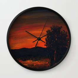 Fireflies at the Pond Wall Clock