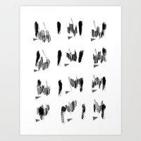 Camille Pattern Art Print
