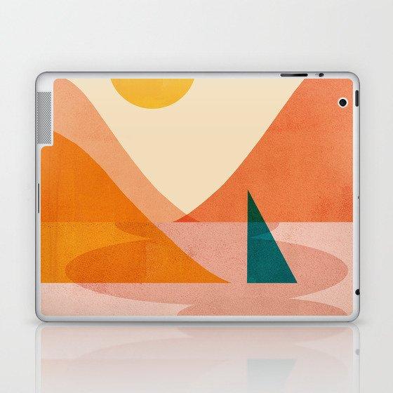 Abstraction_Lake_Sunset Laptop & iPad Skin