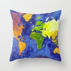 The World Throw Pillow
