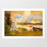 fairy tail Art Prints featuring Fairy Tail  by Tamy Moldavsky Azarov