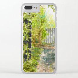 the side gate Clear iPhone Case