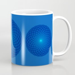 Blue and round Graphic Coffee Mug