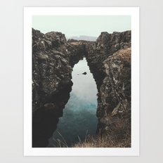 I left my heart in Iceland - landscape photography Art Print