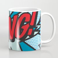 comic book Mugs featuring Comic Book BANG! by Thisisnotme