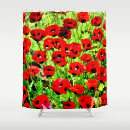Poppies 4 Shower Curtain