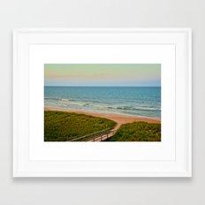 Ponte Vedra Beach on Sunset Framed Art Print