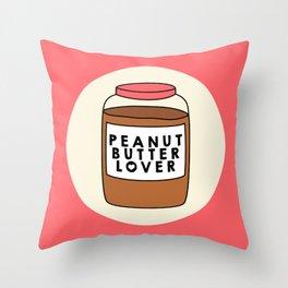 Peanut Butter Lover Throw Pillow