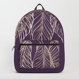 Elegant Feather Talisman with Bird Feathers Backpack