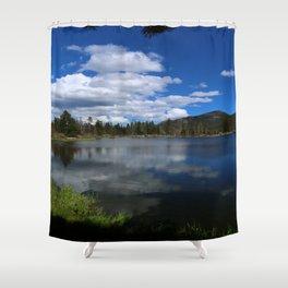 Sprague Lake Reflection Shower Curtain