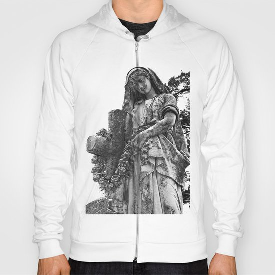 Blessed Virgin Mary Black & White Hoody