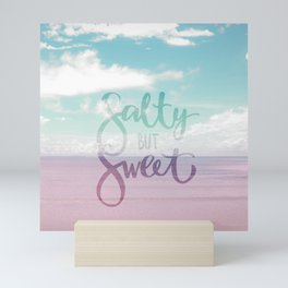 Salty but Sweet - Pink Summer Beach Sea Ocean Nature Mini Art Print