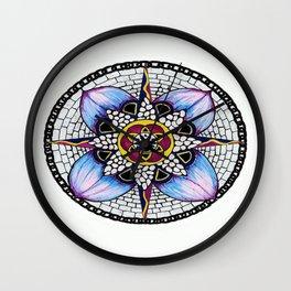 Watercolour Peddles Wall Clock