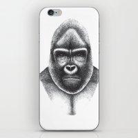gorilla iPhone & iPod Skins featuring Gorilla by Luzia Soares
