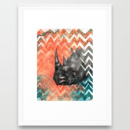 Rhino! My Captain! Framed Art Print