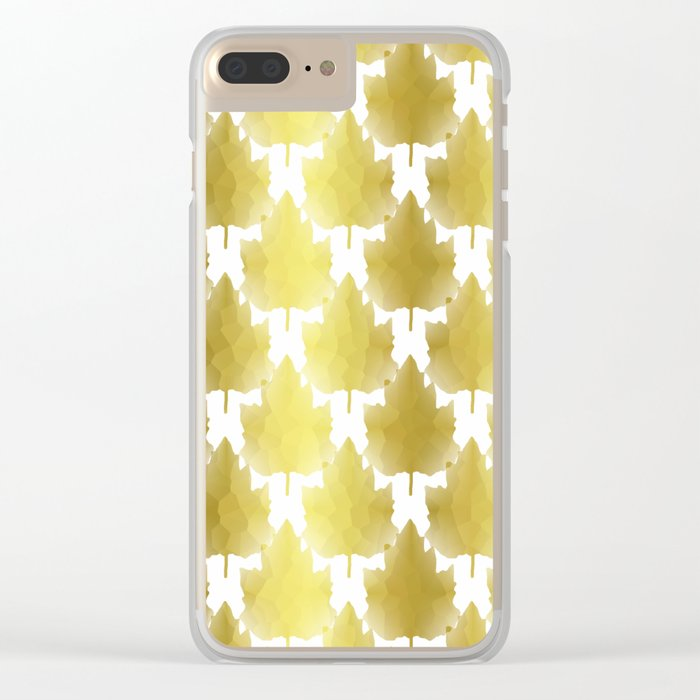 Golden Maple Leaves Clear iPhone Case
