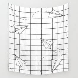 Paper Planes Grid Wall Tapestry