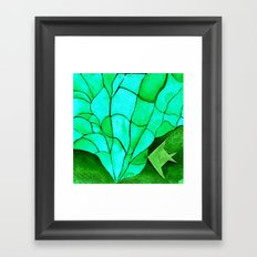 Origami Fish 2 Framed Art Print