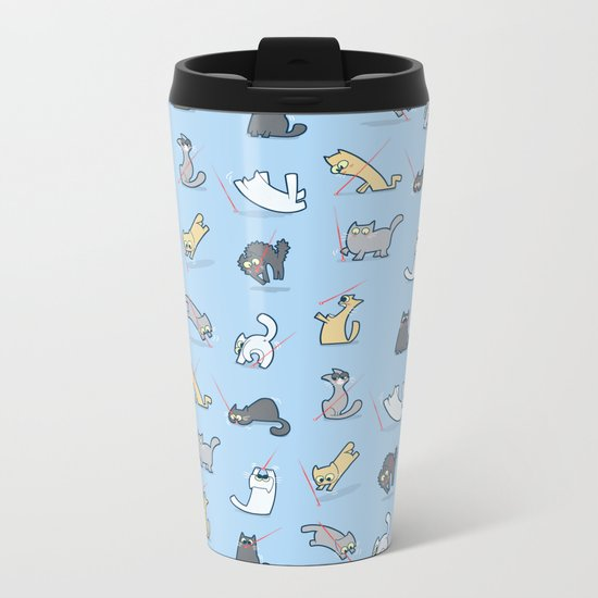 Cats vs Laserpointers Metal Travel Mug