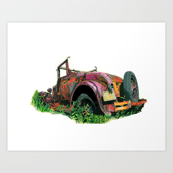 Rusty Car Art Print