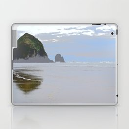 Illustrated Haystack Rock Laptop & iPad Skin