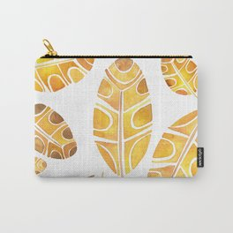 Brown Leaf Carry-All Pouch