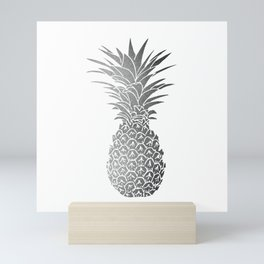 Silver pineapple Mini Art Print