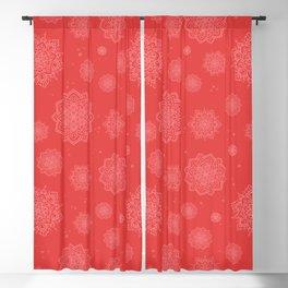 Feathered Mandala Pattern - Berry Blackout Curtain