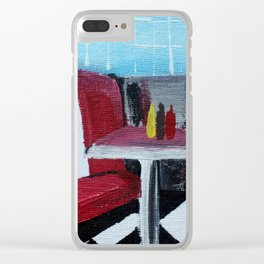 American Diner Impressionist Acrylic Fine Art Clear iPhone Case