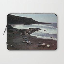 Boats on a beach Laptop Sleeve