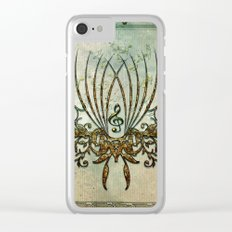 Clef with decorative floral elements Clear iPhone Case