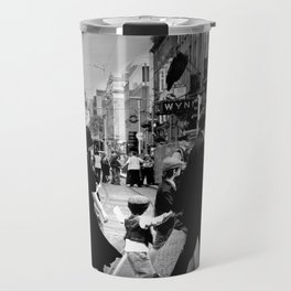 Dublin City Black and White Print Abbey Street Historic Travel Mug