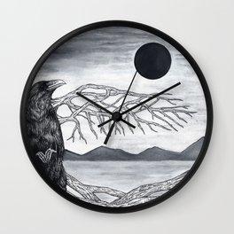 Wooden Bird Wall Clock