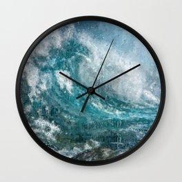 Epic Surf Impressionism Wall Art Print - Ocean Art Print, Modern Print, Beach Decor, Dorm Decor, Wall Clock
