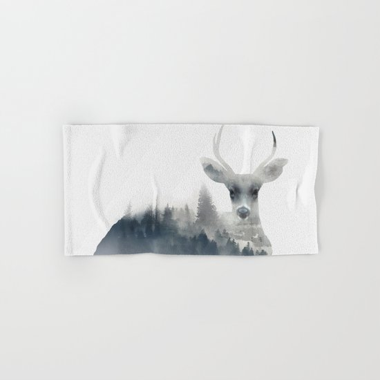 Fearless  winter deer Hand & Bath Towel