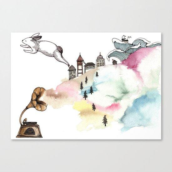 Rabbit Cloud Canvas Print