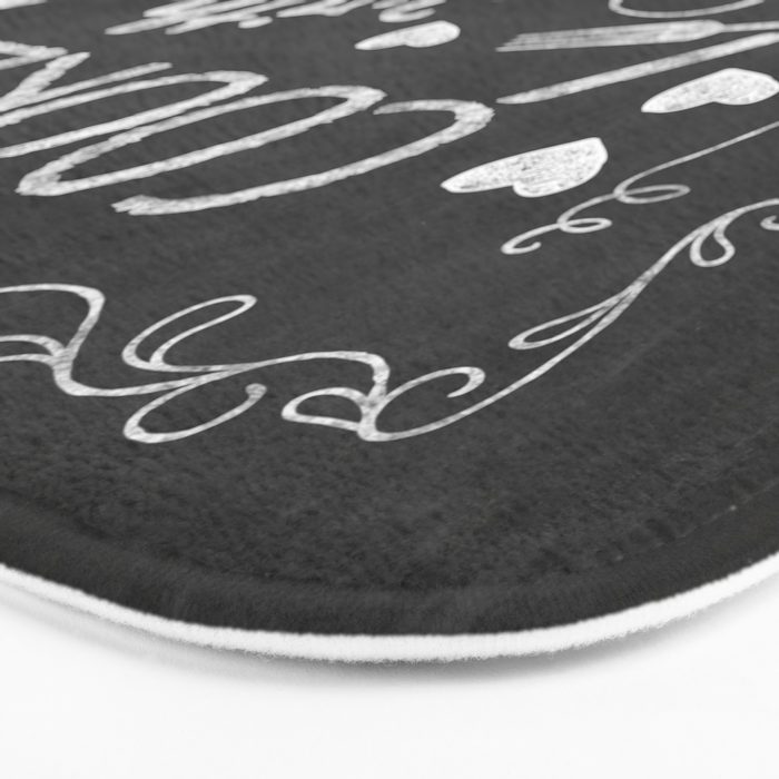 Cooked with Love Retro Chalkboard Sign Bath Mat