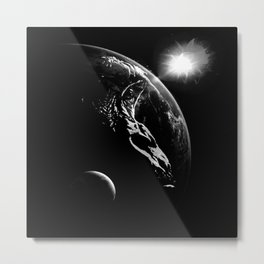 The UNIVERSE in U - black version Metal Print