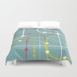Line By Line - Bubblegum Pop-A Duvet Cover