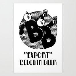 Belgian beer cartoon style Art Print