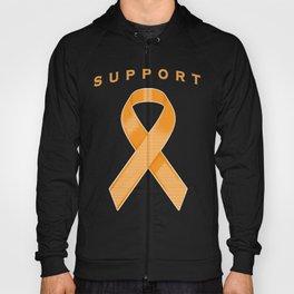 Orange Awareness Ribbon Hoody