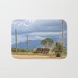 Sugar Cane transport in the tropics Bath Mat