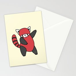 Dancing Red Panda Stationery Cards