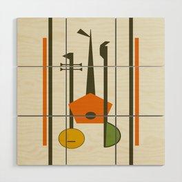 Mid-Century Modern Art Musical Strings Wood Wall Art