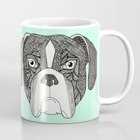 boxer Mugs featuring Boxer by Sosarora