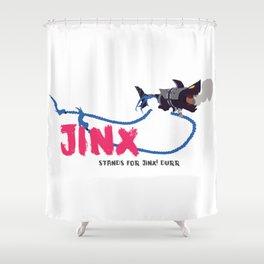 Jinx? Stands for Jinx! Durr Shower Curtain
