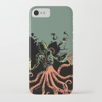 scuba iPhone & iPod Cases featuring tentacle scuba by Sarah Baslaim