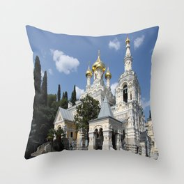 Alexander - Newski - Church - Yalta Throw Pillow